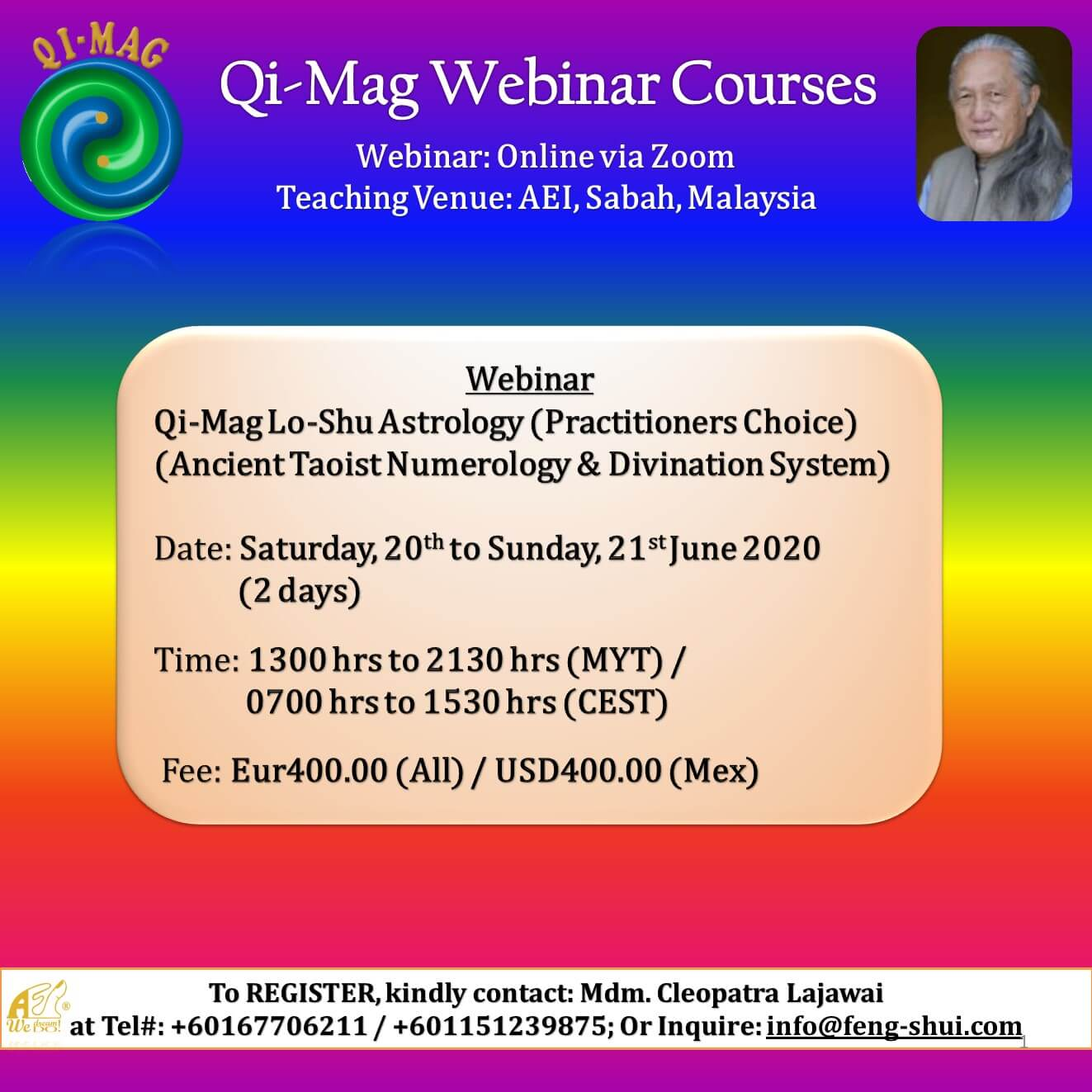 eflyer LOSHU ASTROLOGY PC Webinar JUNE 2020
