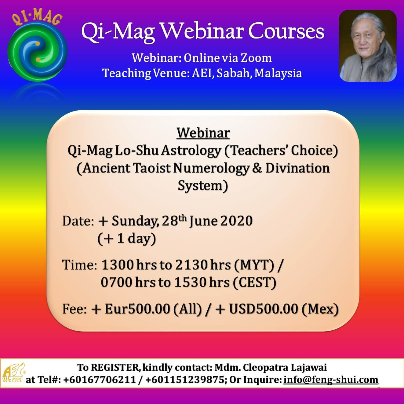 eflyer LOSHU ASTROLOGY TC Webinar JUNE 2020