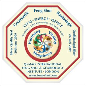 Sieglezertifizierung für Raumbalance Vital-Energi™ Office